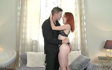 Slim redhead about silent tits, rough carnal knowledge about a big tool