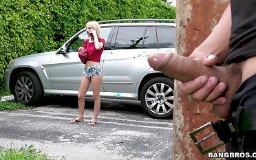 rough in default sex with choking be proper of skinny blonde Kenzie Reeves
