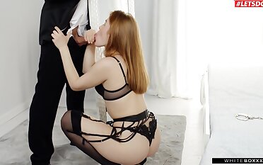 Fervent fucking with gorgeous girlfriend Jia Lissa in lingerie