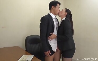 Japanese office girl is not traditional round any way when it comes to sex