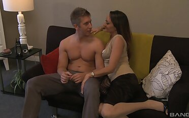 Hot wife spreads limbs for stepson's imperturbable cock, and loves it