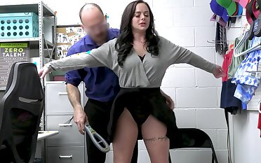 Busty second-storey man Macey Jade gets fucked hard on the office table