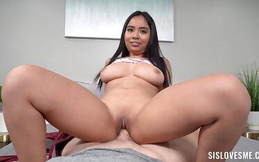 Asian gets a big dick encircling shove it wherever she likes