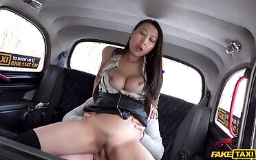 Fake Taxi - Well-endowed French Asian Tries Euro Cock 1 - Sharon Lee