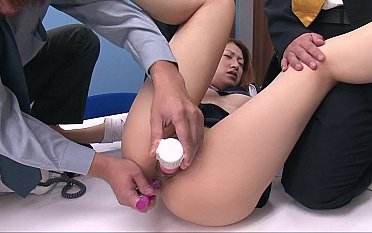 Japanese office worker DP'ed with toys
