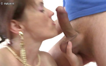 57YO Mature MOM fucked by her son's friend