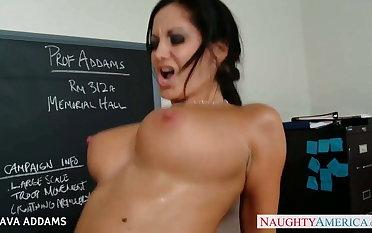 Teacher in glasses Ava Addams gets big tits fucked