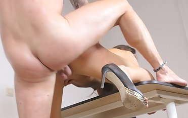 Fantastic Nataly Gold hardcore sex scenes with a cop