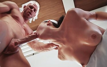 Sporty doll ends up jizzed on face and hard fucked