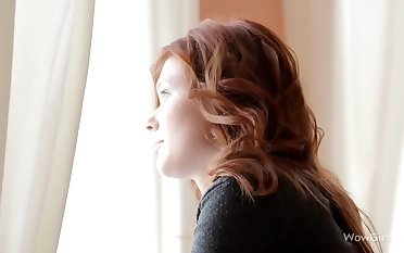Beautiful redhead sweety with perfect tits and body