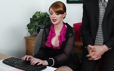 Marie is working hard on a report