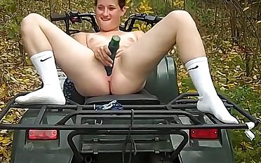 Naughty brunette country girl wanted near finish feeling bit of fun outdoors