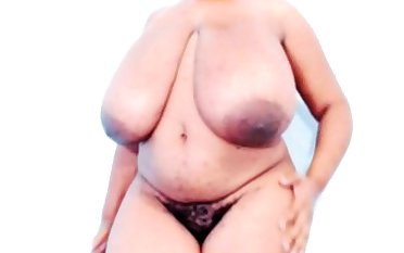 Fat pitch-black bbw titjob webcam