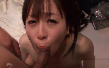 Nozomi Hazuki uses vibrator to make their way hairy pussy cumming h