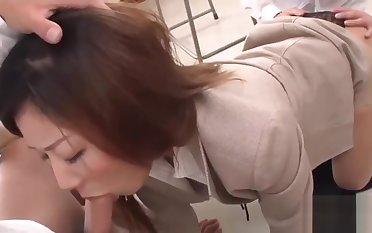 Japanese teacher sucking off her students!