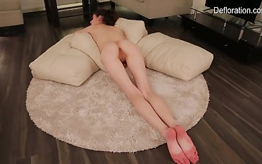 Skinny 18 excellence old in lingerie gets naked for you