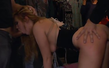 Plighted blonde gangbang in make noticeable