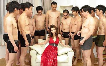 Nagisa Kazami in Nagisa Kazami is fucked by so manifold cocks in a gangbang - AvidolZ