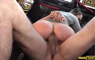 Blue Angel gets her sweet cunt licked and fucked away from a cabbie