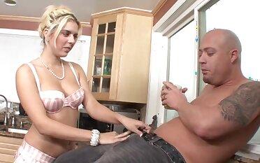 Hardcore pussy fucking in the kitchen with lustful Kodi Gamble