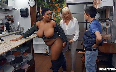 Kinky interracial threesome far Dana Dearmond and Layton Benton