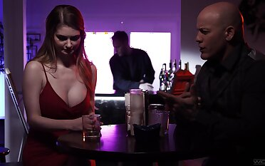 Tattooed jock Derrick Pierce fucks shove around babe Bella Rolland and cums on bald pussy