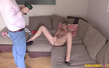 Eva is a hot young peaches who did her best to wow a porn agent